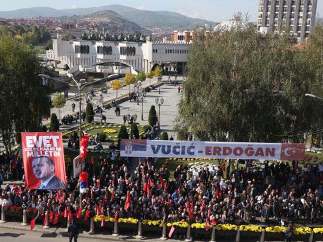 Нови Пазар дочекује Вучића и Ердогана (фото:Танјуг)
