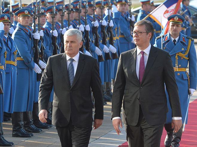 Vučić sa delegacijom Predsjedništva BiH