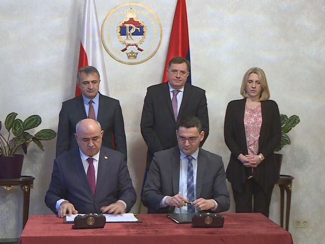 Potpisan Memorandum između Republike Srpske i Južne Osetije - Foto: RTRS