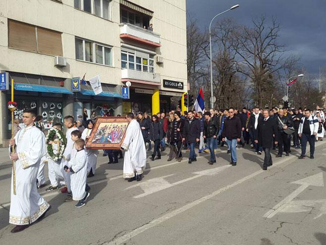 Banjaluka: Litija i plivanje za Časni krst (Foto: SRNA)