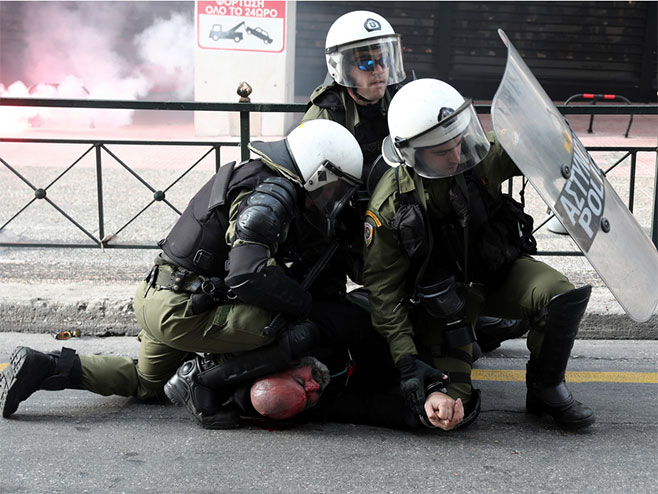 Атина- Протест због имена Македонија (Фото: Танјуг/АП)