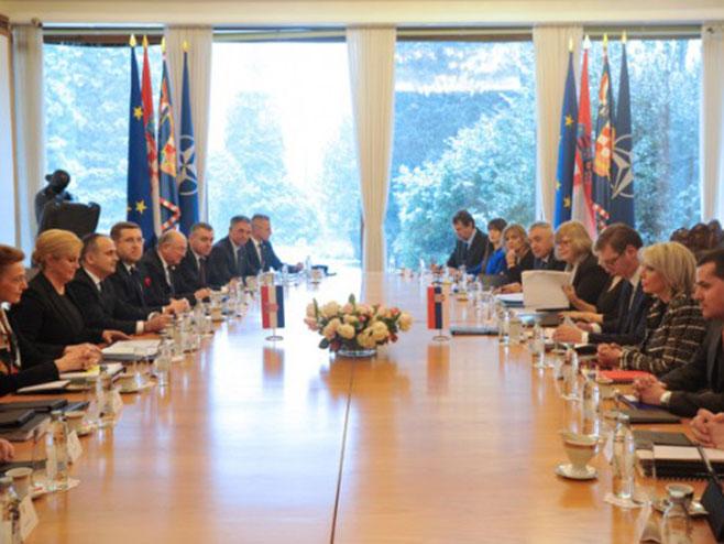 Састанак делегација Србије и Хрватске (Фото: Танјуг)