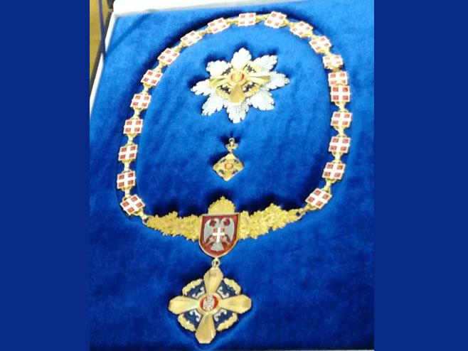 Орден Републике Српске на огрлици