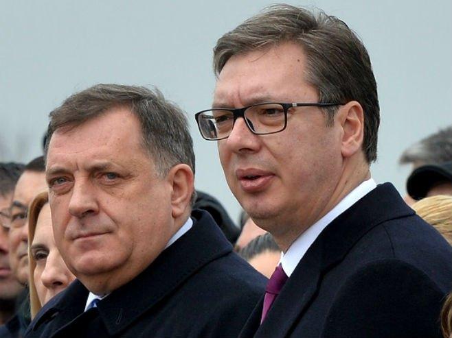 Milorad Dodik i Aleksandar Vučić   (Foto: Novosti)