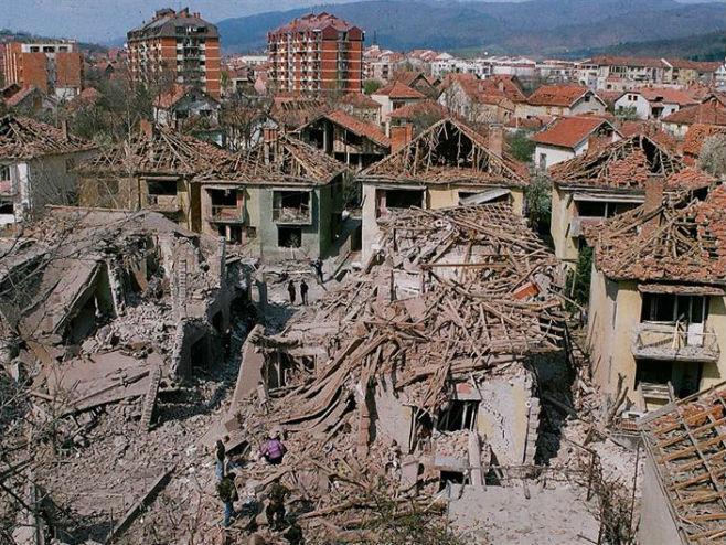 Aleksinac nakon bombardovanja