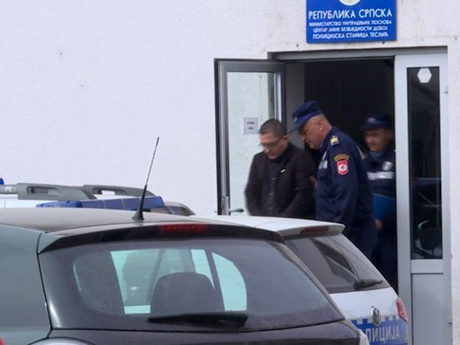 Teslić - hapšenje (Foto: RTRS)