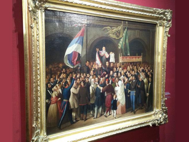 """U Novom Sadu otvorena izložba """"Majska skupština - 170 godina poslije""""  (Foto: SRNA)"""
