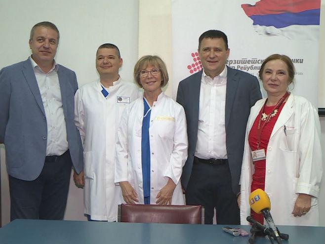 Dr Vojka Gorjup iz Ljubljane u UKC RS (Foto: RTRS)