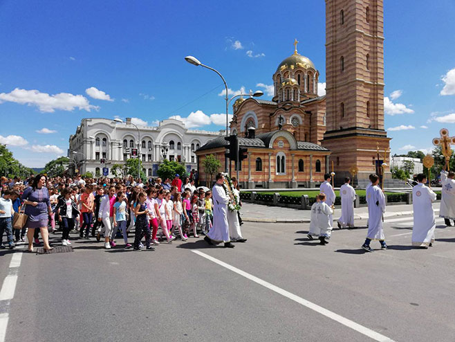 Бањалука: Спасовданска литија (Фото: РТРС)