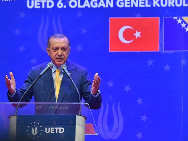 Ердоган на скупу у Сарајеву (Фото: klix.ba)
