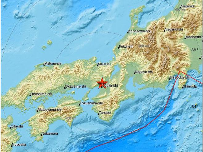 Осака, епицентар земљотреса (фото: static3.emsc.eu) -
