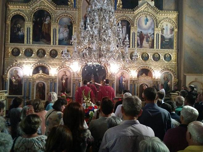 Liturgija u Crkvi Svetog Đorđa (Foto: RTRS)