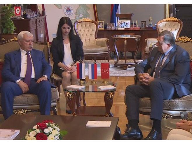 Sastanak Dodika i Poltavčenka (Foto: RTRS)
