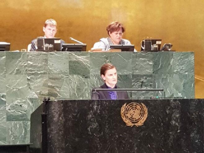 Ана Брнабић, Уједињене нације (фото: Влада Србије)