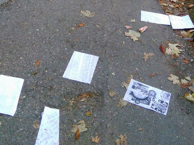 U Bijeljini osvanuli leci sa ustaškim simbolima (Foto: SRNA)