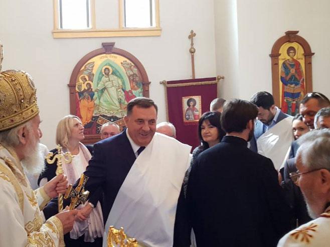 Dodik i Cvijanović (Foto: RTRS)