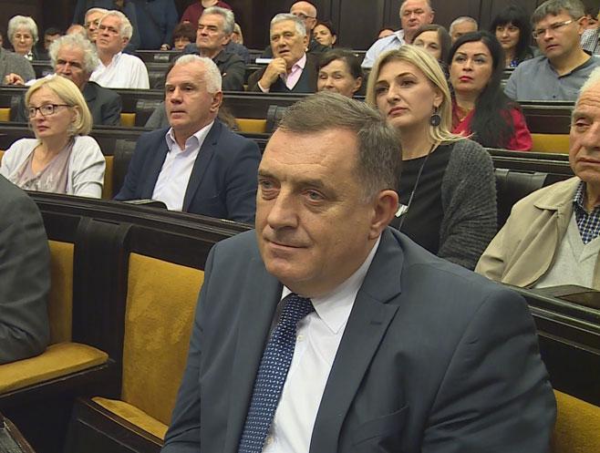 Milorad Dodik na promociji knjige Emira Kusturice (Foto: RTRS)