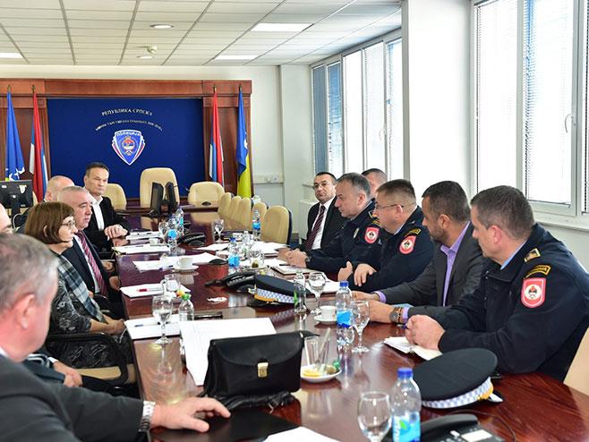 Sjednica Koordinacionog tjela za praćenje kretanja ilegalnih migranata (Foto: MUP Srpske)