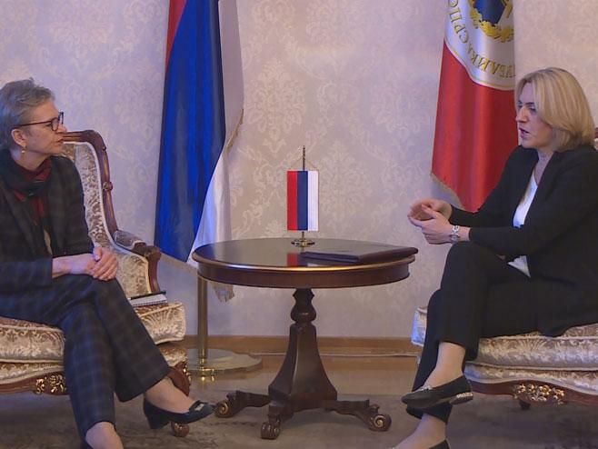 Cvijanovićeva sa direktorom EBRD za Centralnu i Јugoistočnu Evropu (Foto:RTRS)
