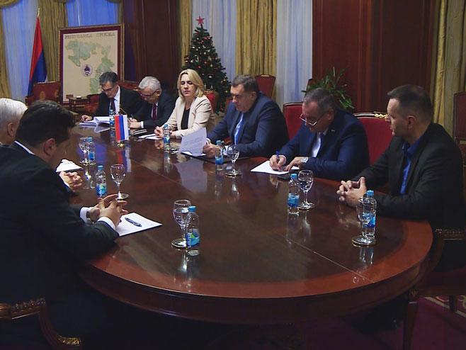 Sastanak zvaničnika Srpske (Foto: RTRS)