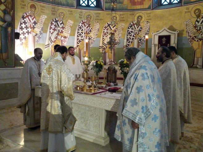 Божићна литургија у Требињу (Фото: Срна)