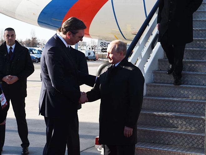 Vučić-Putin (Foto: Tanjug)
