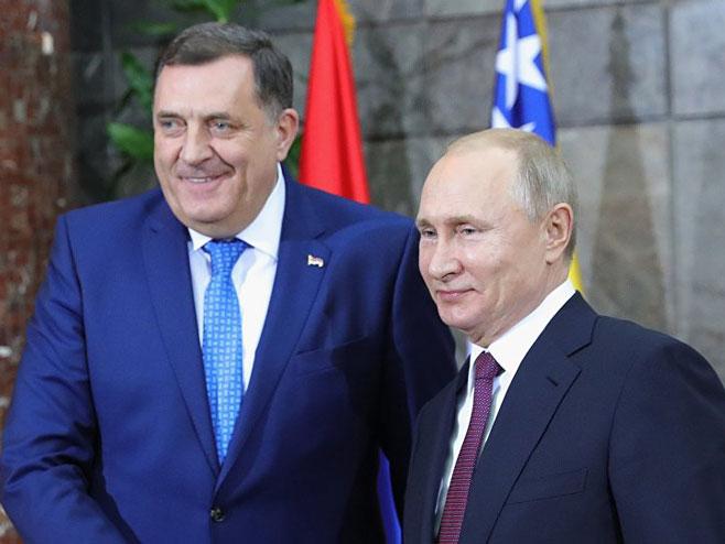 Додик и Путин (Фото: Sputnik / Mihail Klimentьev) -
