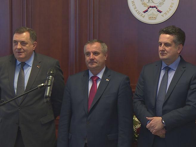 Zvaničnici Srpske (Foto: RTRS)