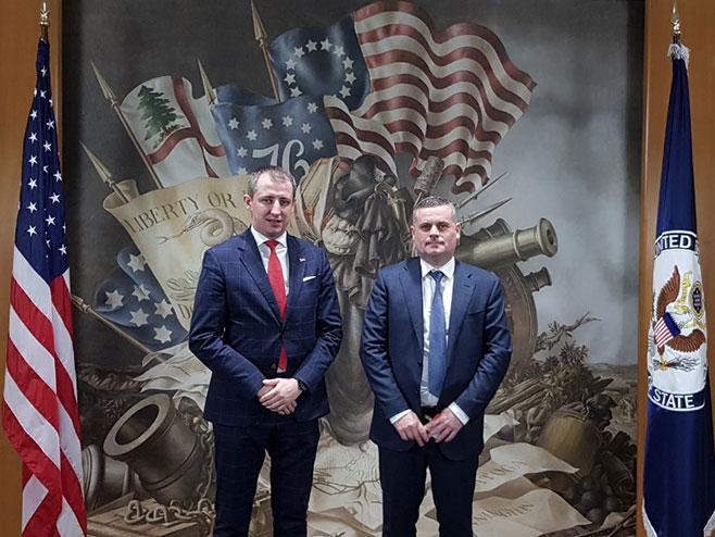 Delegacija Srpske u posjeti Stejt departmentu (Foto: RTRS)
