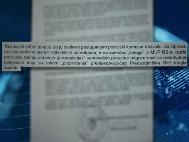 Izvod iz dokumenta (foto: ATV BL)