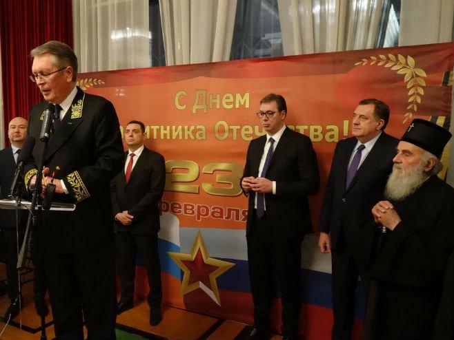 Vučić i Dodik na Danu branilaca otadžbine (Foto: Aleksandr Čepurin/Twitter)
