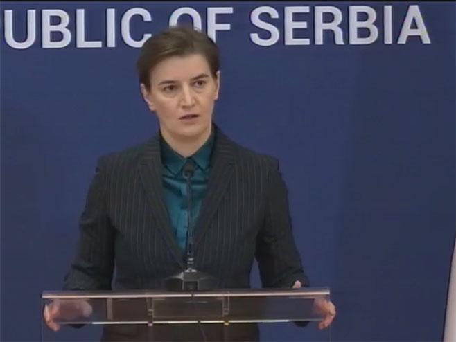 Ana Brnabić, predsjednica Vlade Srbije (Foto: RTRS)