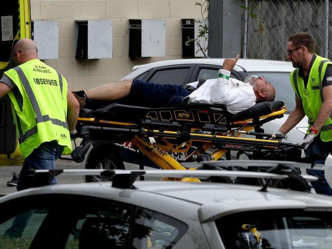 Пуцњава у џамији на Новом Зеланду (Фото: Mark Baker/AP)