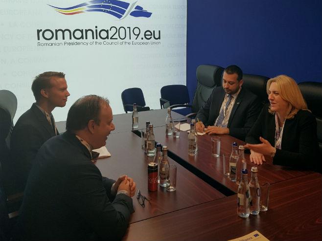 Sastanak Cvijanovićeve sa Berntsonom (Foto: RTRS)