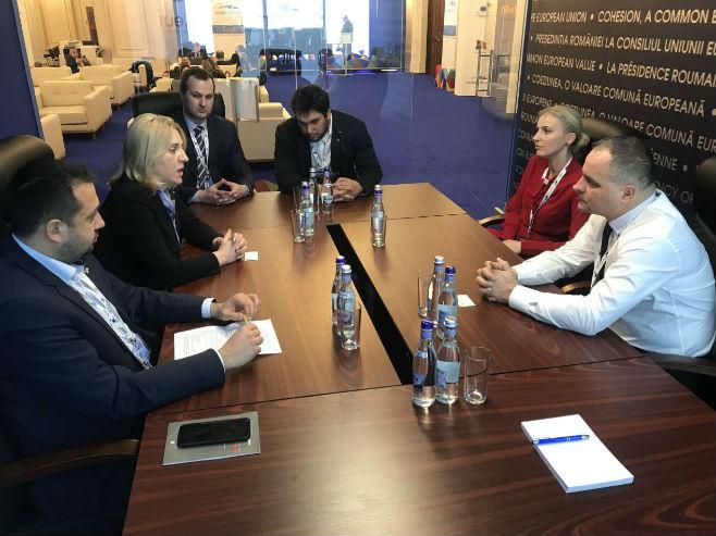 Sastanak Cvijanovićeve sa Јurajom Drobom (Foto: RTRS)