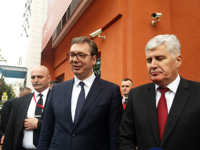 Vučić i Čović (Foto: RTRS)