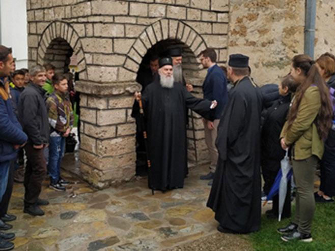 Patrijarh Irinej posjetio Srbe u Štrpcu (foto:spc.rs)