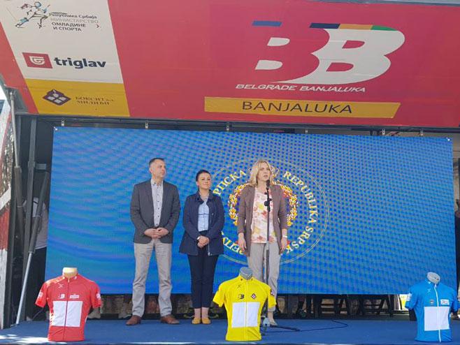 Радојичић, Давидовићева и Цвијановићева (Фото: РТРС)