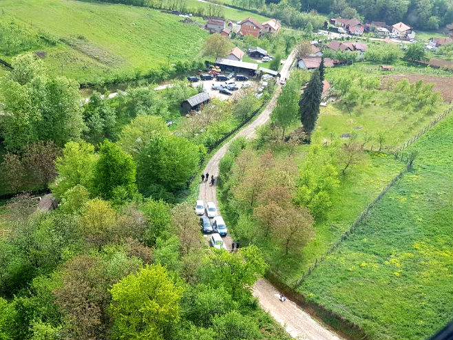 Glamočani - mjesto ubistva Slaviše Krunića (Foto: RTRS)