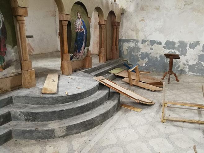 Kupres, Donje Vukosavsko - devastirana pravoslavna crkva (Foto: RTRS)