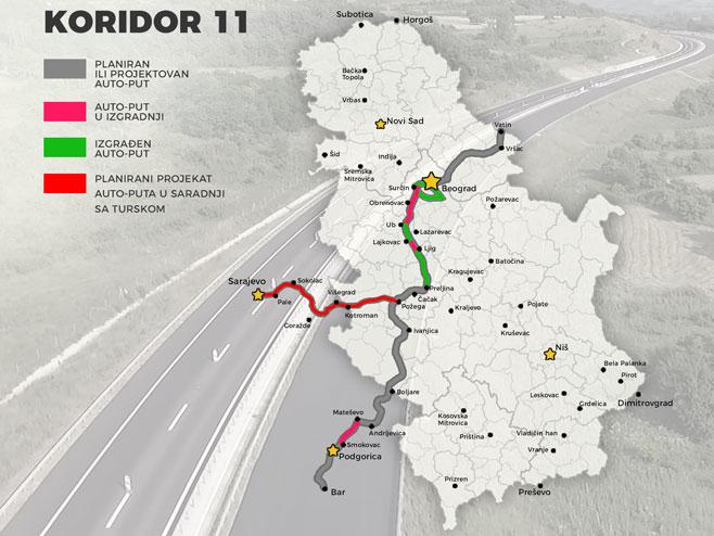 Почела изградња Коридора 11, на траси 30 мостова и три тунела