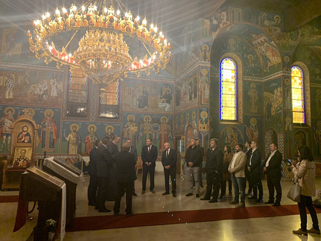 Вишковић посјетио православни храм у Линцу (Фото: РТРС)