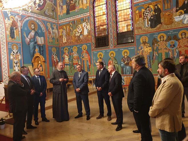 Вишковић посјетио цркву светог Василија Острошког у Линцу