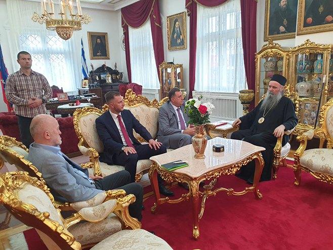 Састанак Додика и епископа Фотија (Фото: РТРС)