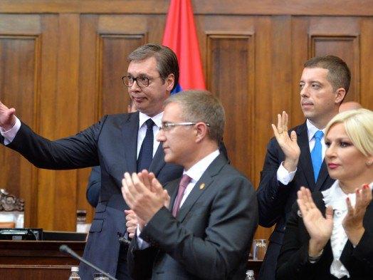 Александар Вучић пред посланицима (Фото:Танјуг/Р.П)