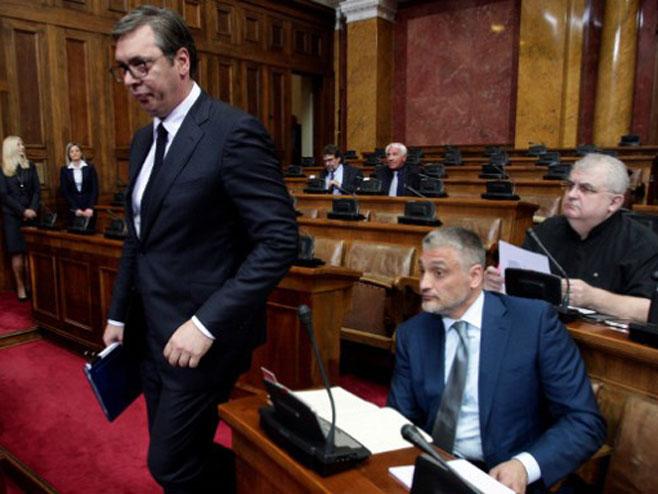 Александар Вучић, Чедомир Јовановић и Ненад Чанак (Фото:Танјуг/Р.П)