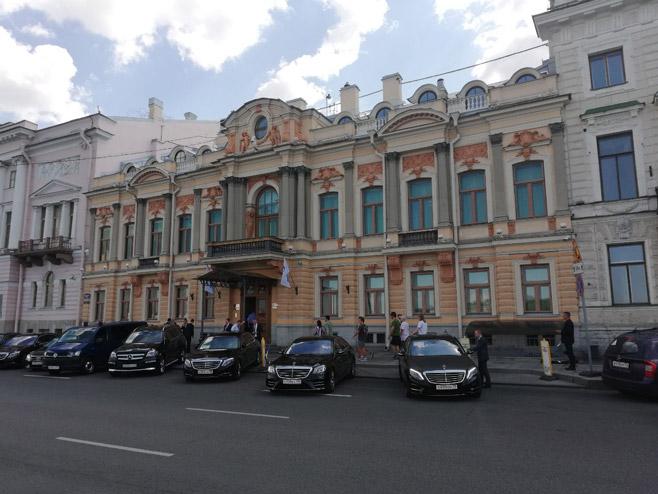 Зграда комапаније Гаспром у Санкт Петербургу (фото:РТРС)