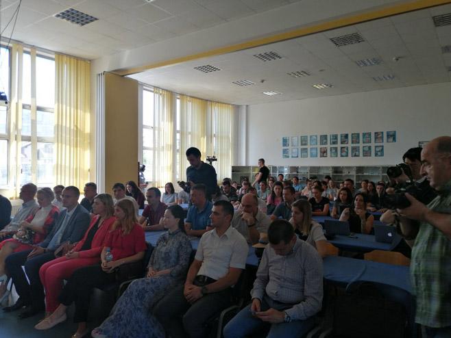Predavanje Đi Pinga u Banjaluci (Foto: RTRS)