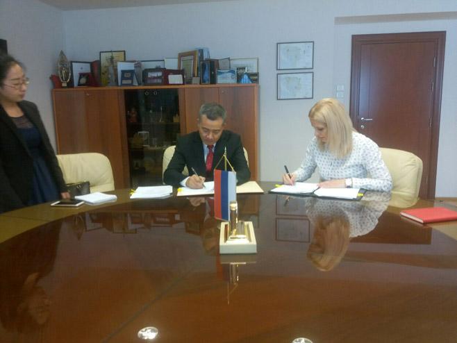 Споразум о обезбјеђивању наставника кинеског језика (Фото: РТРС)