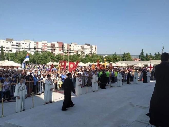 Литургија у Подгорици (Фото: facebook)